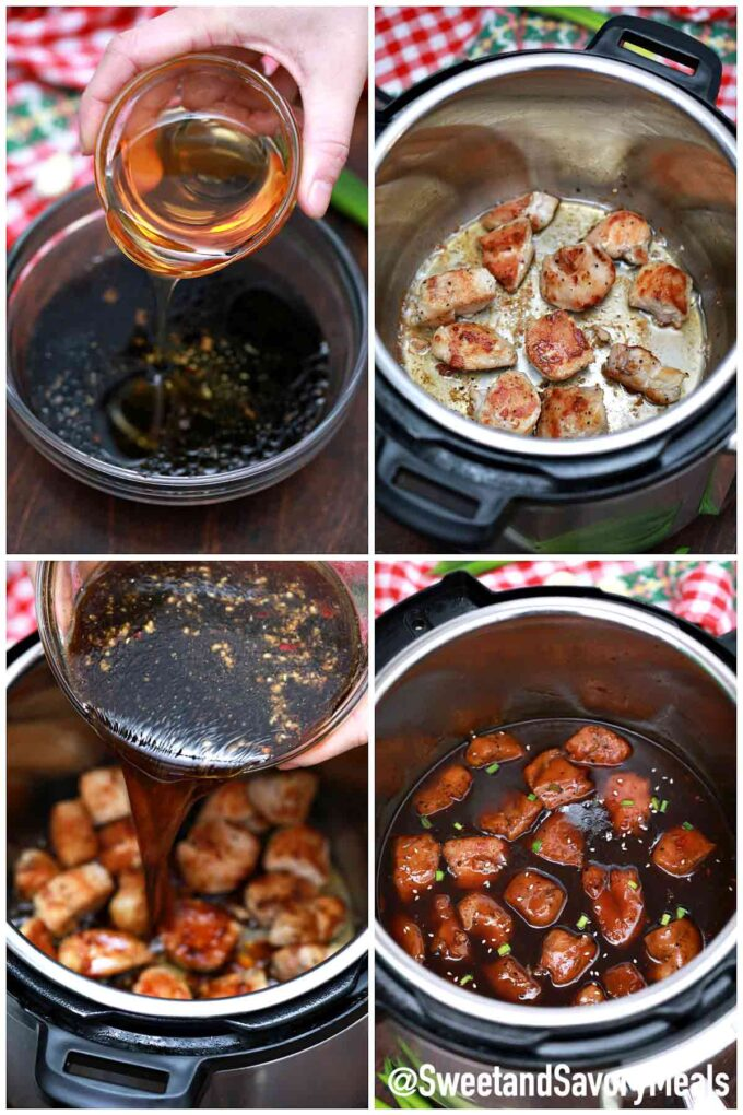 steps how to make instant pot teriyaki chicken