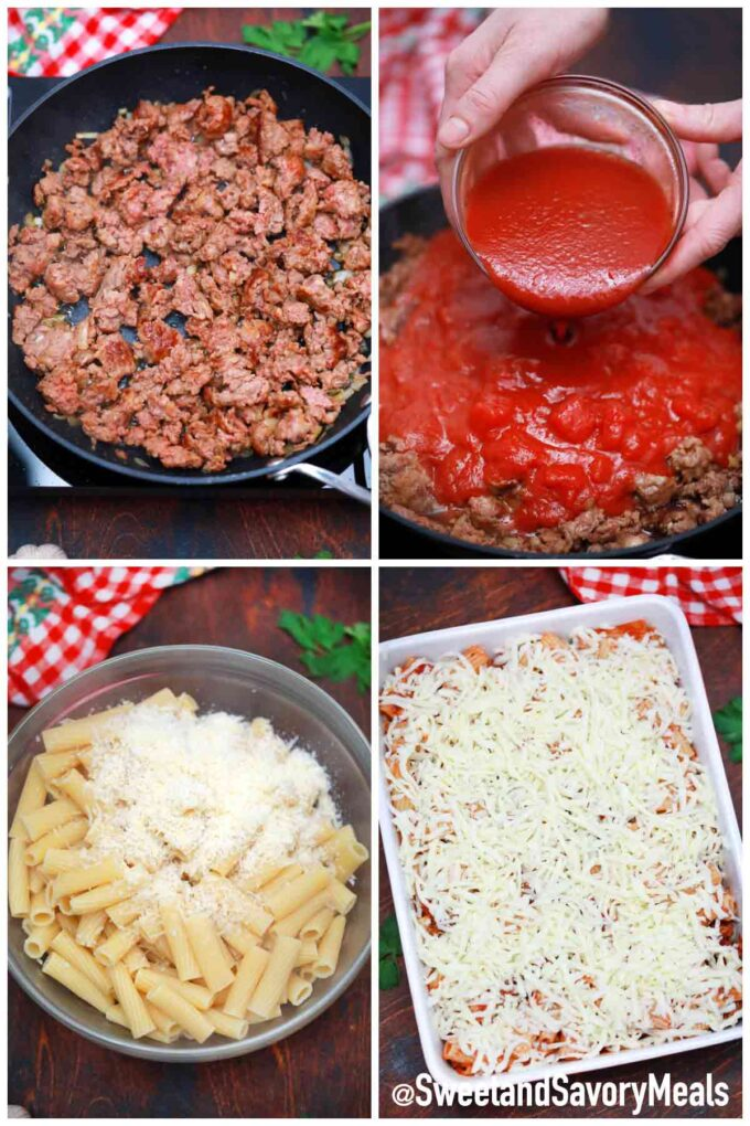 steps how to make pasta al forno