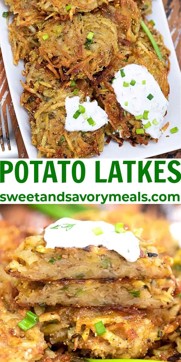 easy potato latkes pin