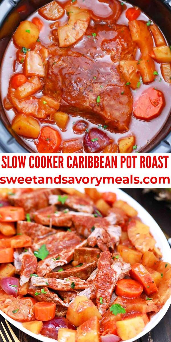 easy slow cooker caribbean pot roast pin