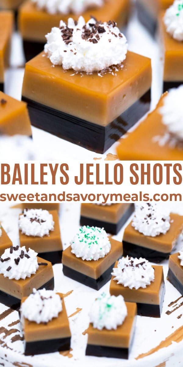 easy Baileys jello shots pin