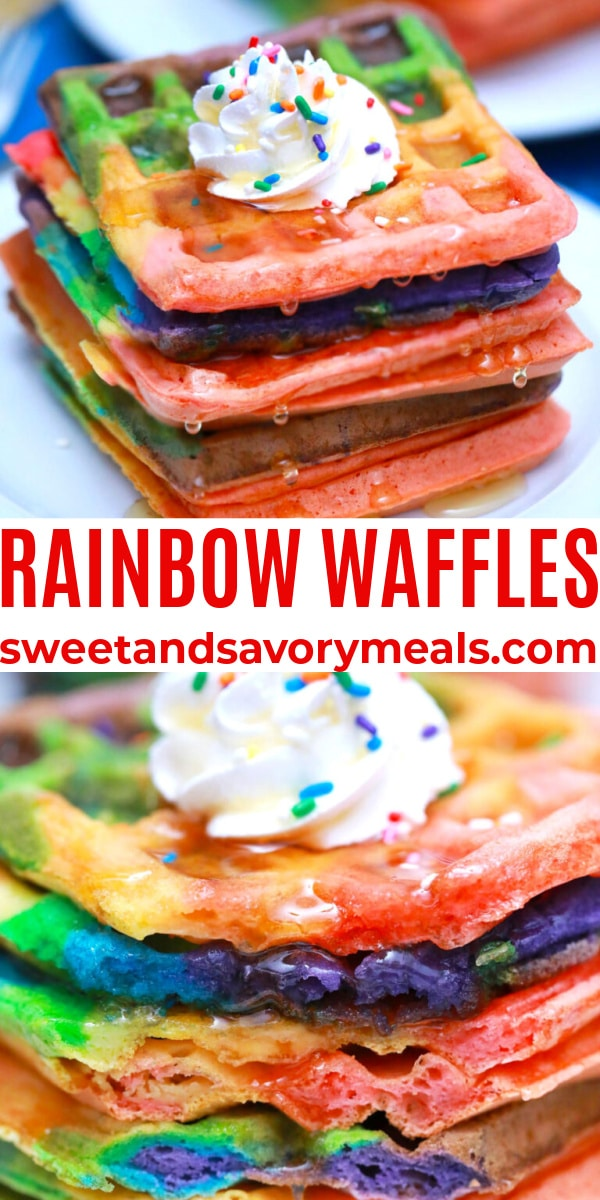 easy rainbow waffles pin