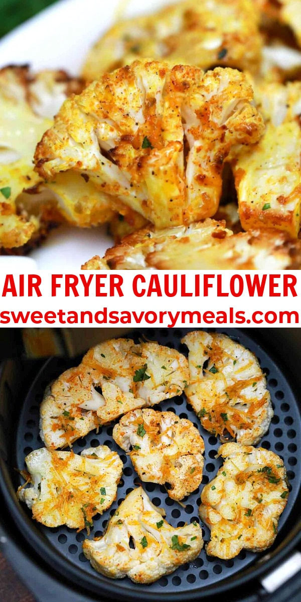 easy air fryer cauliflower pin