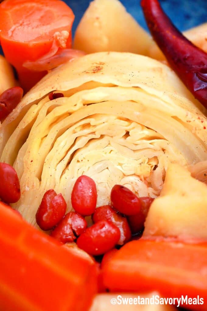 cabbage pot roast sliced