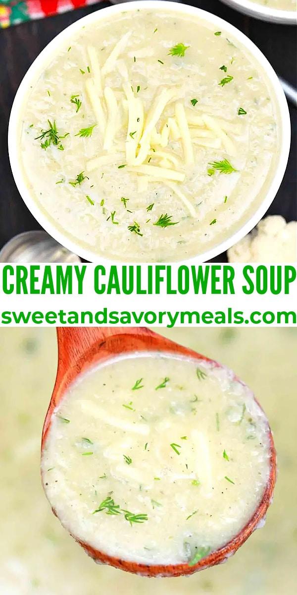 easy cauliflower soup pin