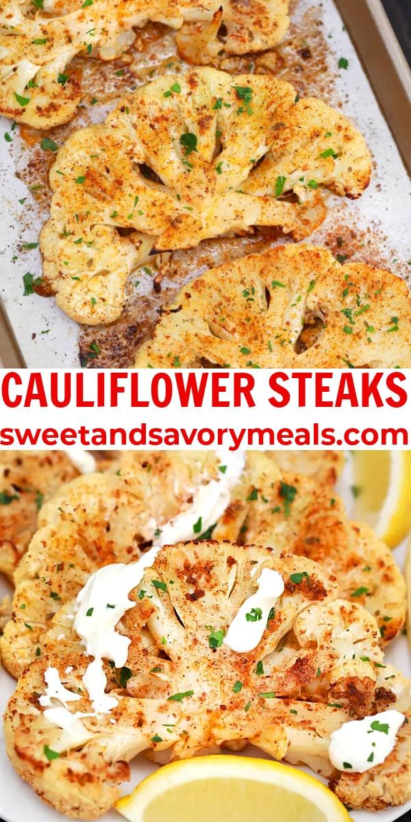 easy cauliflower steaks pin