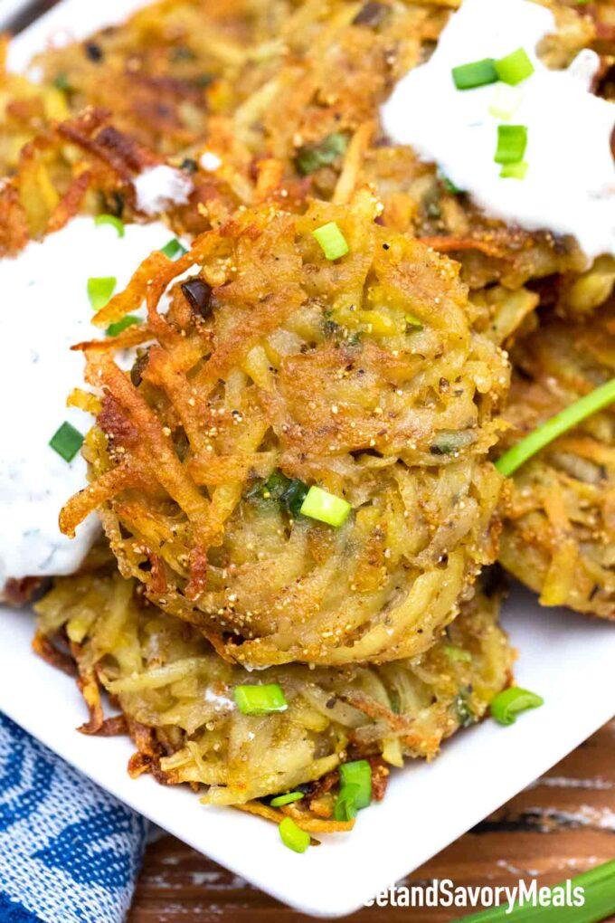 knusprige Kartoffellatkes