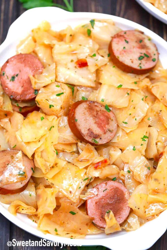 cabbage and sausage