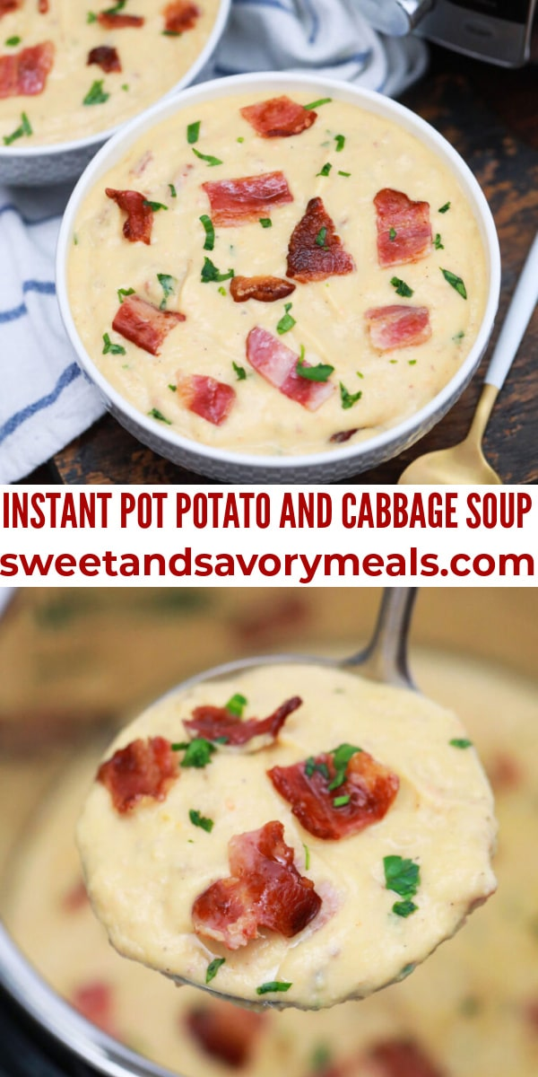 easy instant pot potato and cabbage soup pin