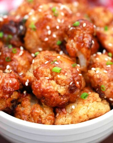 Sticky Sesame Baked Cauliflower