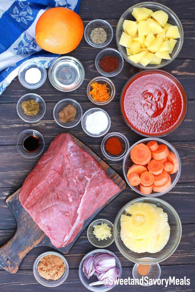 slow cooker carribean pot roast ingredients