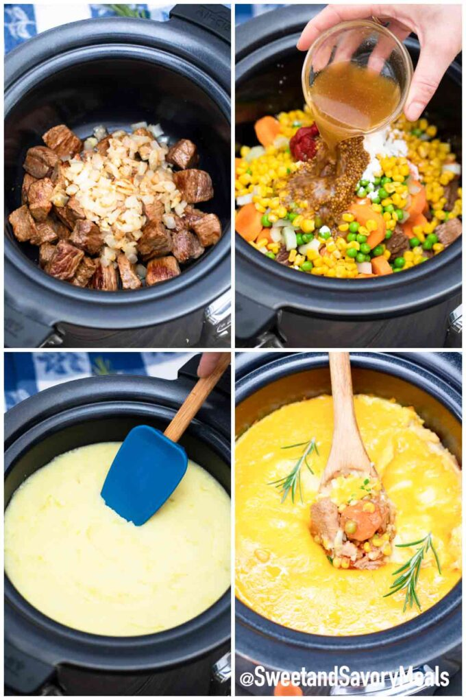 steps how to make slow cooker shepherds pie