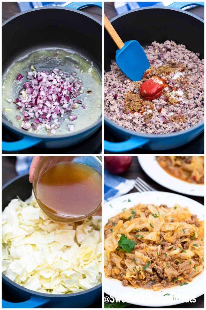 steps how to make Turkish stew