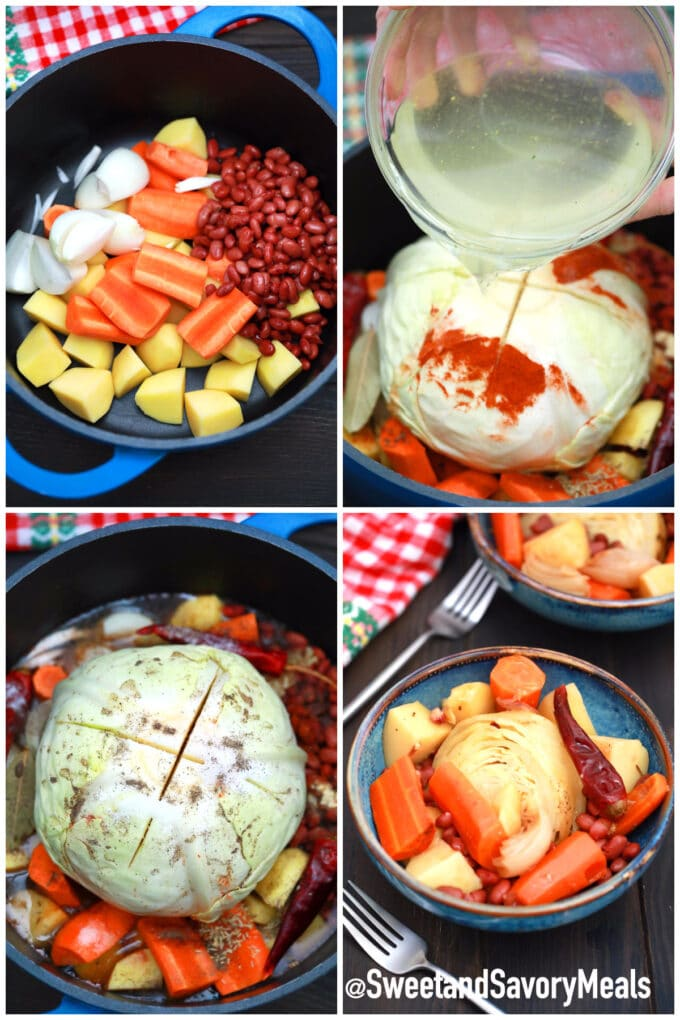 steps how to make cabbage pot roast