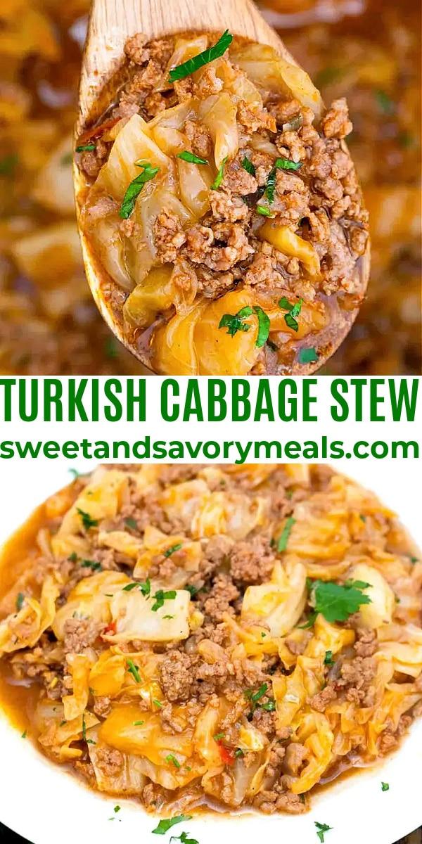 easy turkish cabbage stew pin
