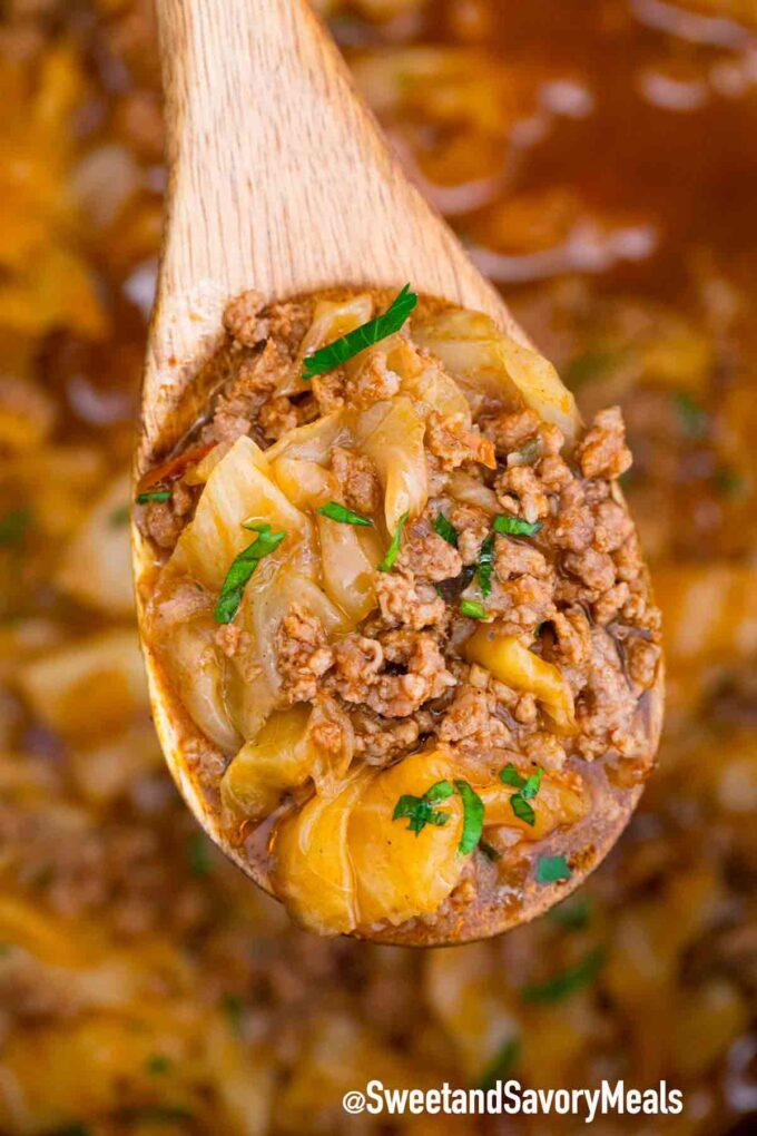 Turkish stew with beef ground