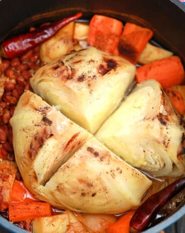 Vegetarian Cabbage Pot Roast