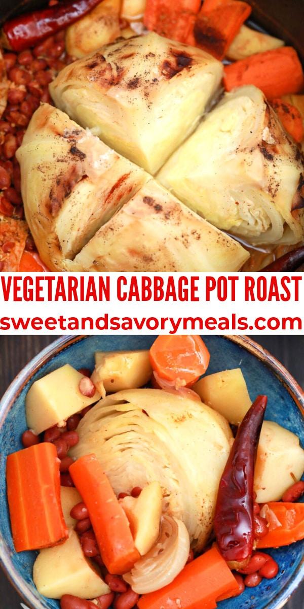 easy vegetarian cabbage pot roast pin