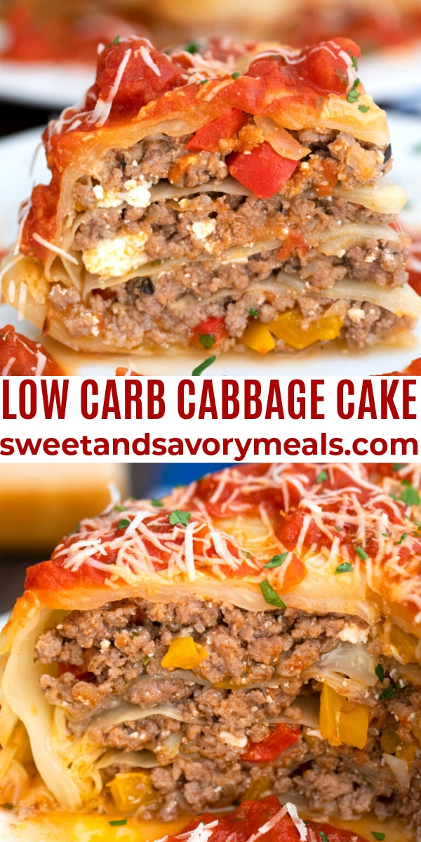easy low carb cabbage cake pin