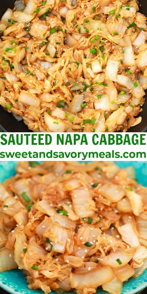easy sauteed napa cabbage pin