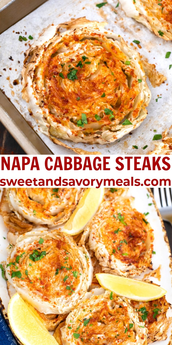 easy napa cabbage steaks pin