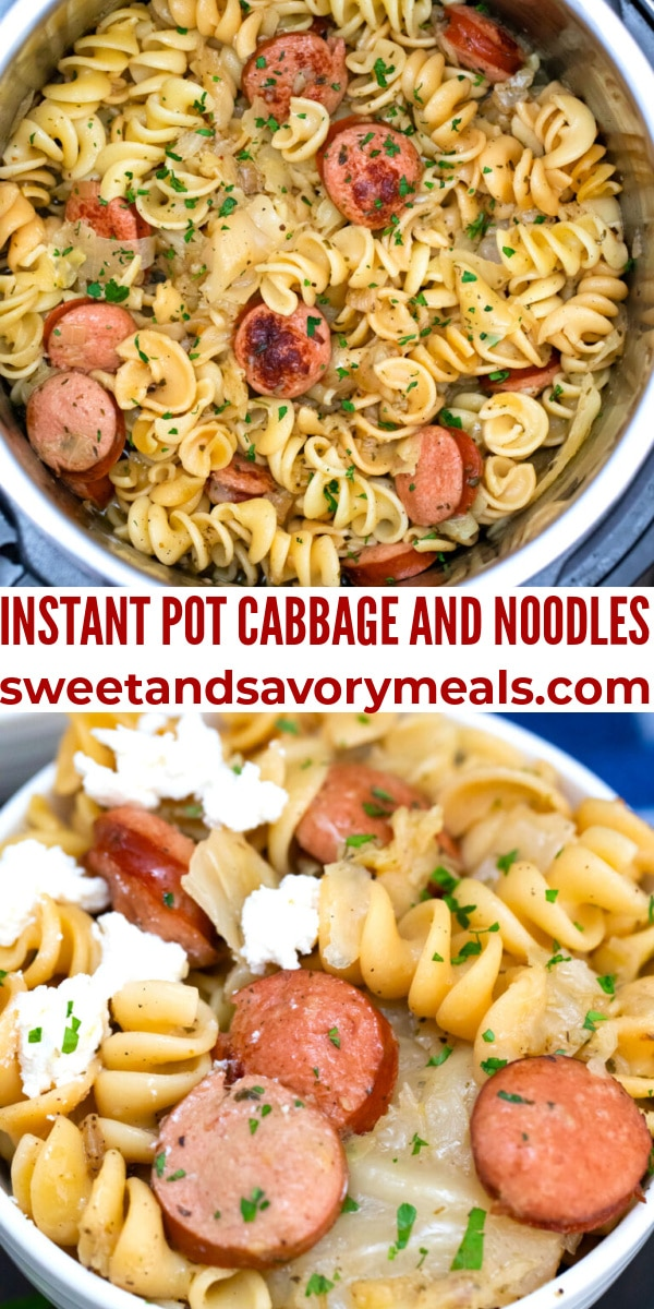 Instant Pot Cabbage and Noodles
