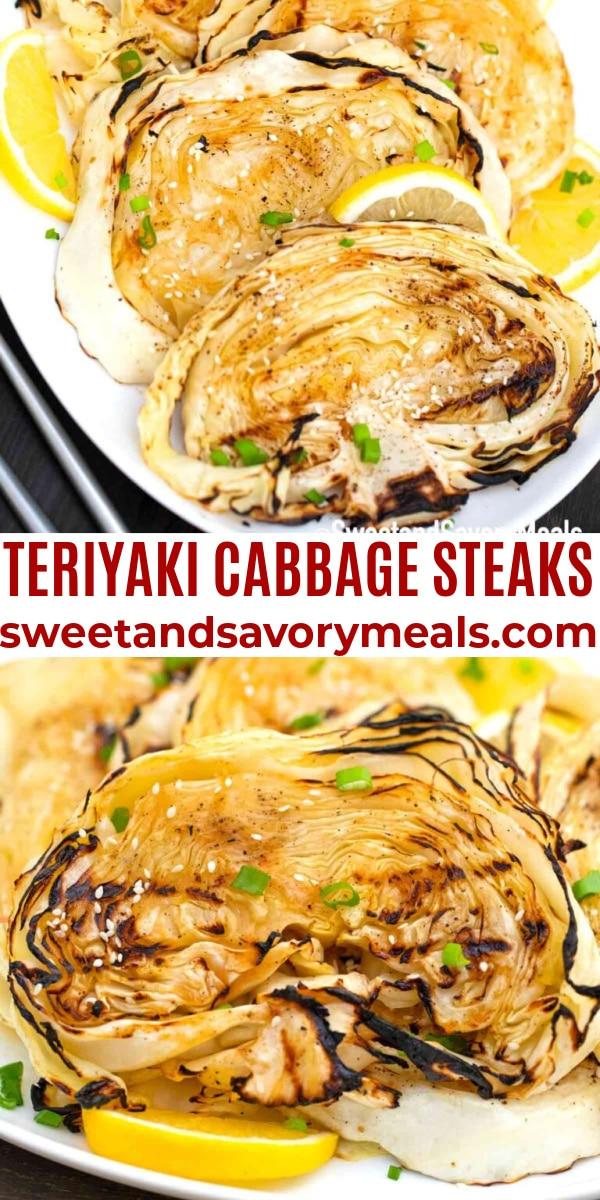 easy teriyaki cabbage steaks pin
