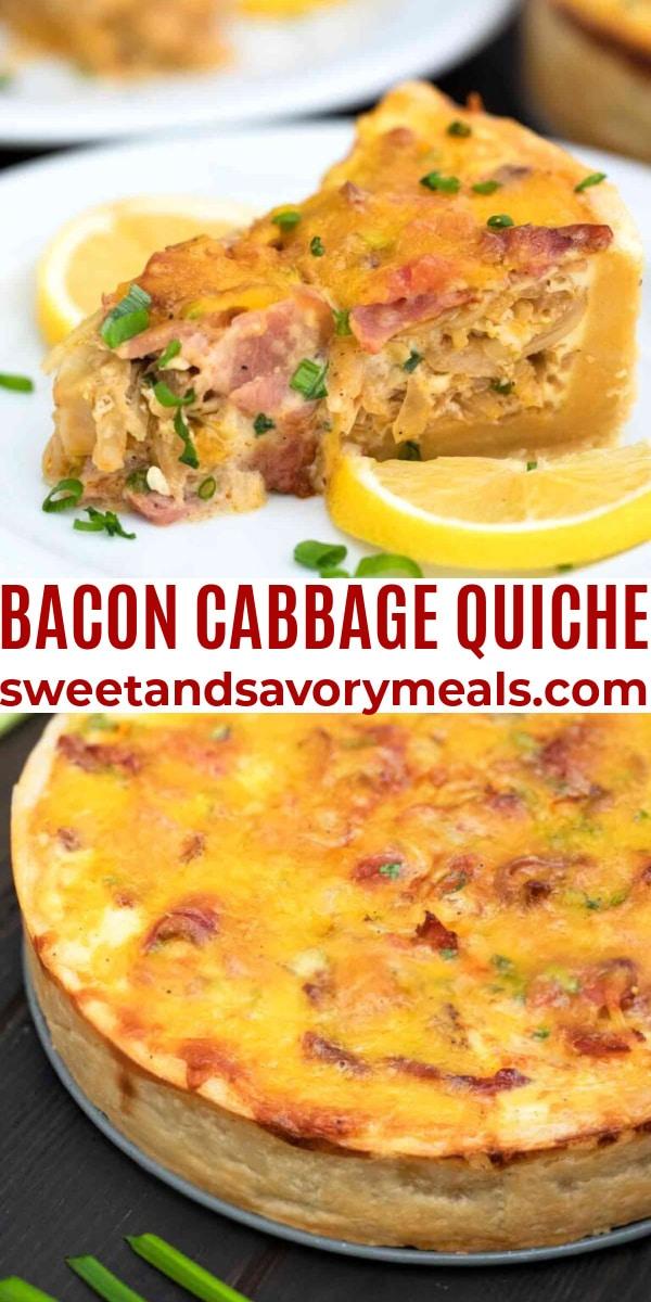 easy bacon cabbage quiche pin