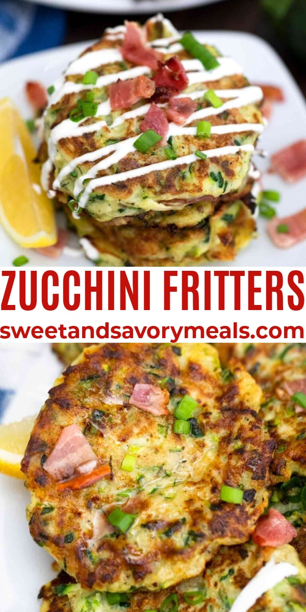 easy zucchini fritters pin