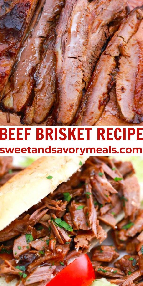 easy beef brisket recipe pin