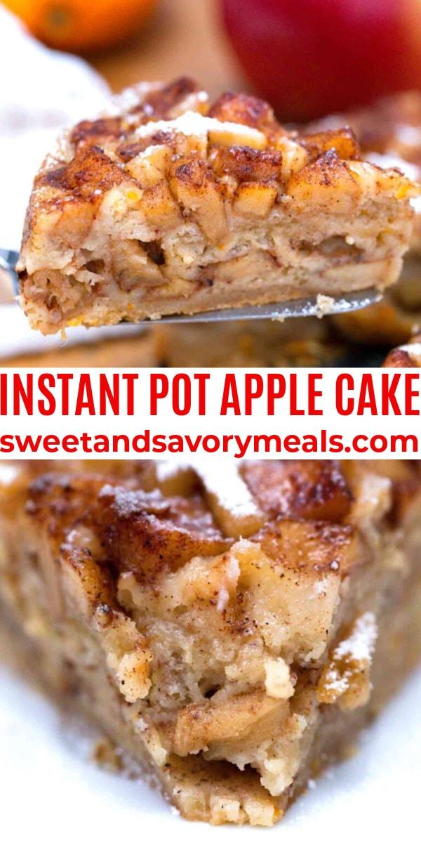 easy instant pot apple cake pin