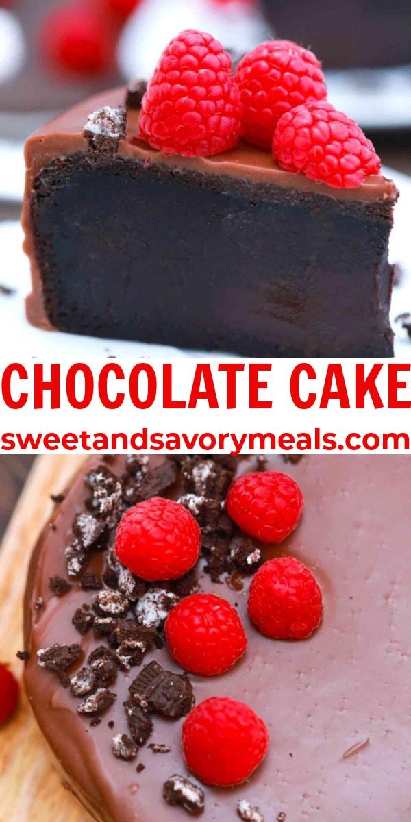 easy chocolate cake pin
