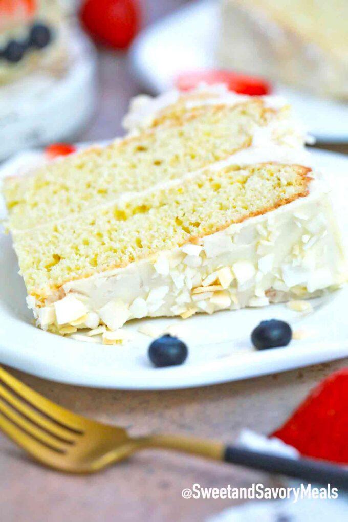 bunny butt cake slice
