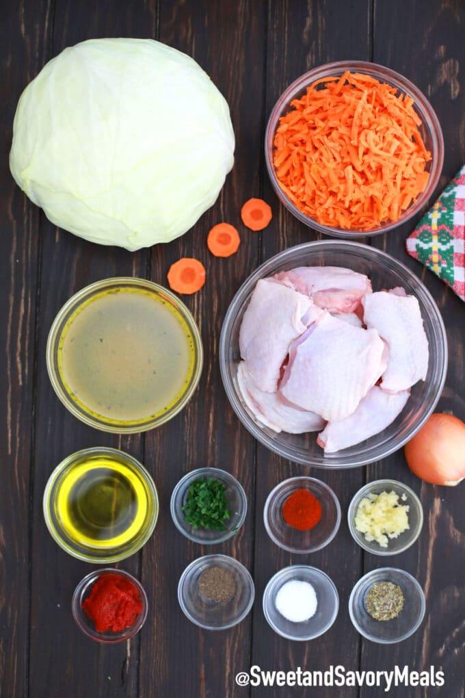 chicken and cabbage stir fry ingredients