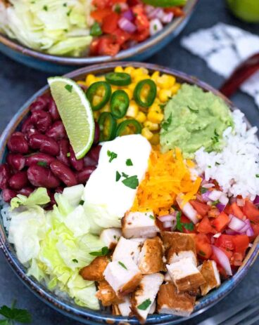 Chipotle Chicken Burrito Bowl Copycat