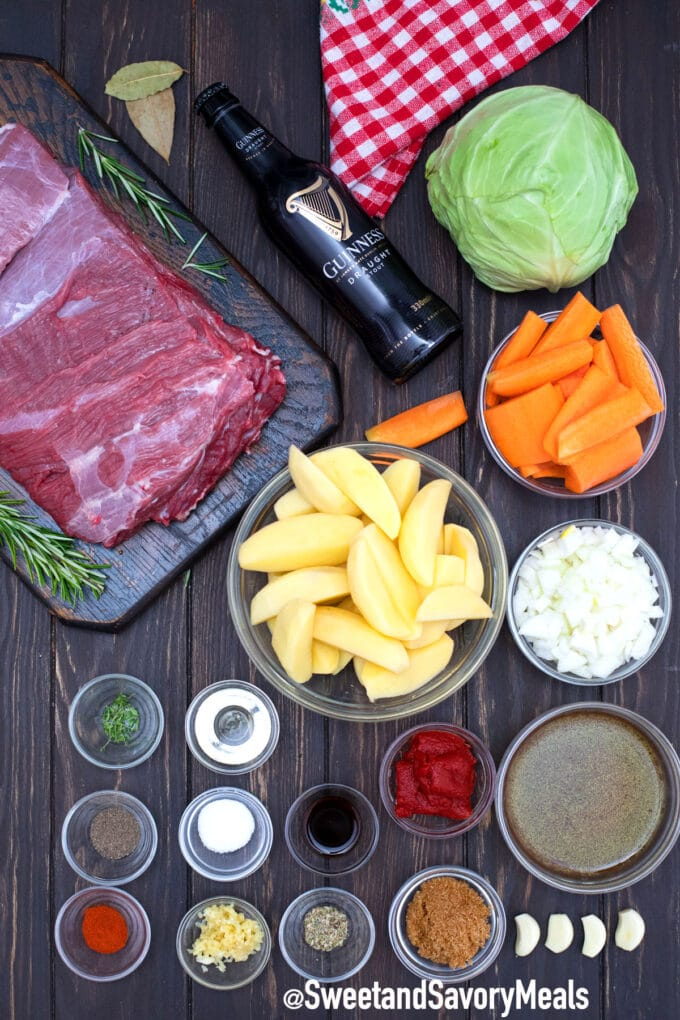 Guinness pot roast ingredients