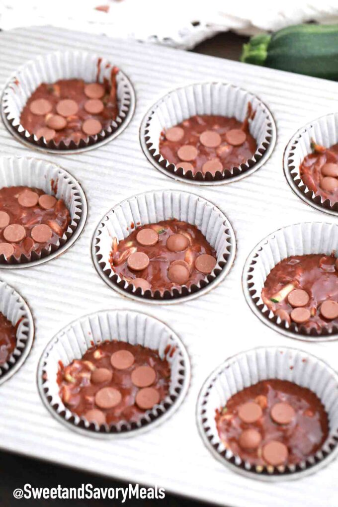 chocolate zucchini muffins batter