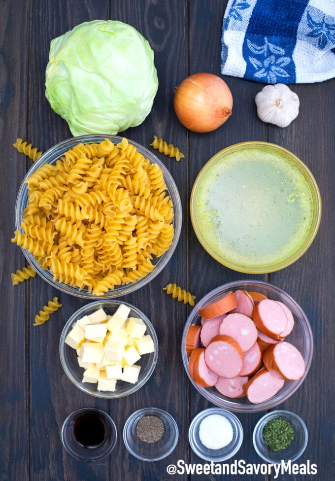 instant pot cabbage and noodles ingredients