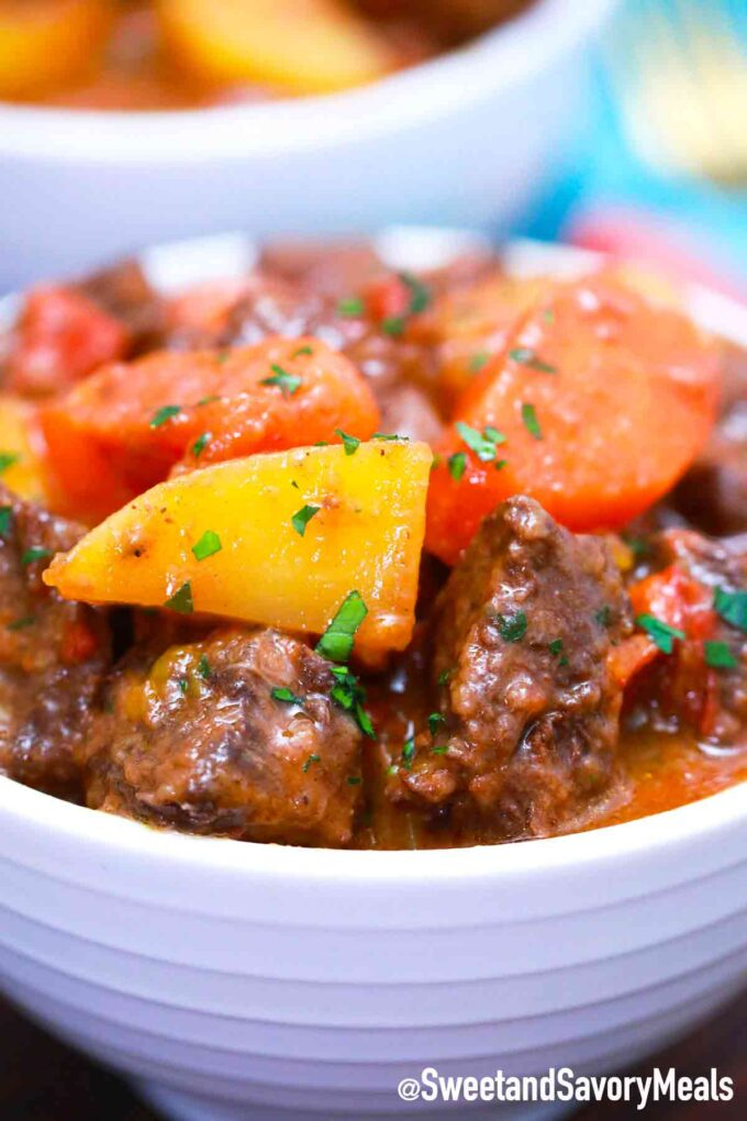 instant pot Mexican beef stew with carrots and potatoes