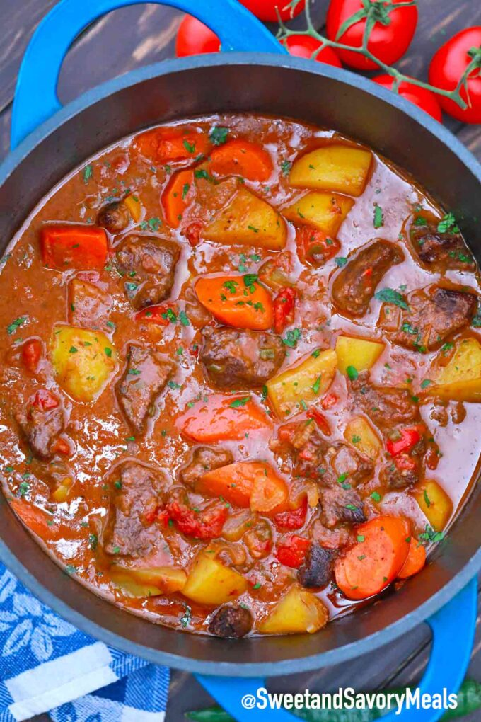 pot of Mexican beef stew