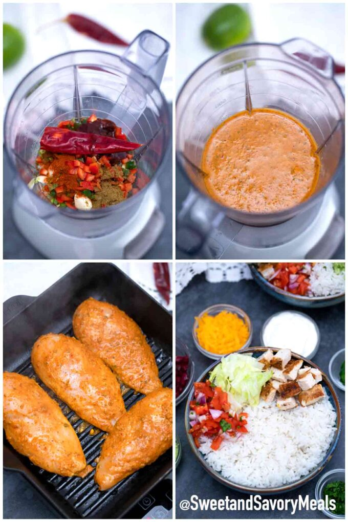 steps how to make chipotle chicken burrito bowl