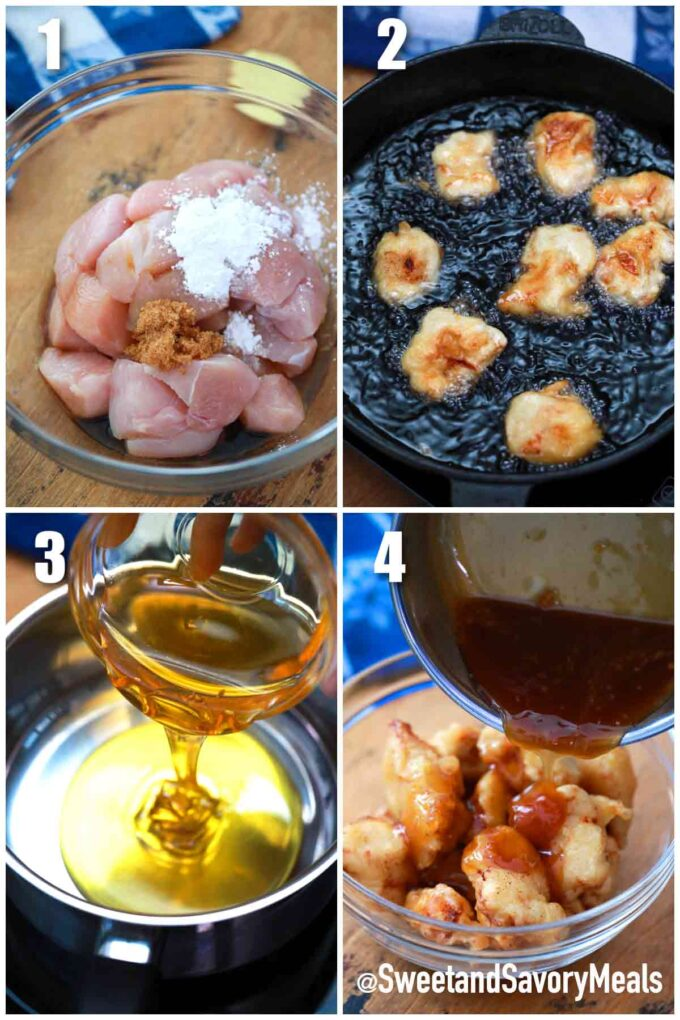 steps how to make honey chicken