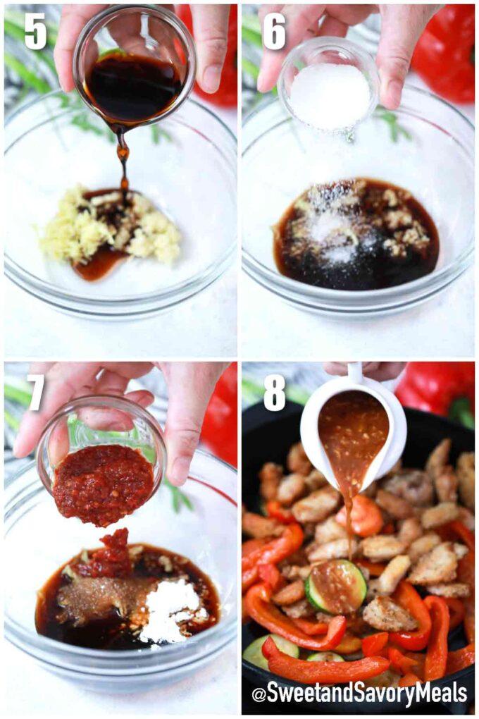 steps how to make Hunan sauce
