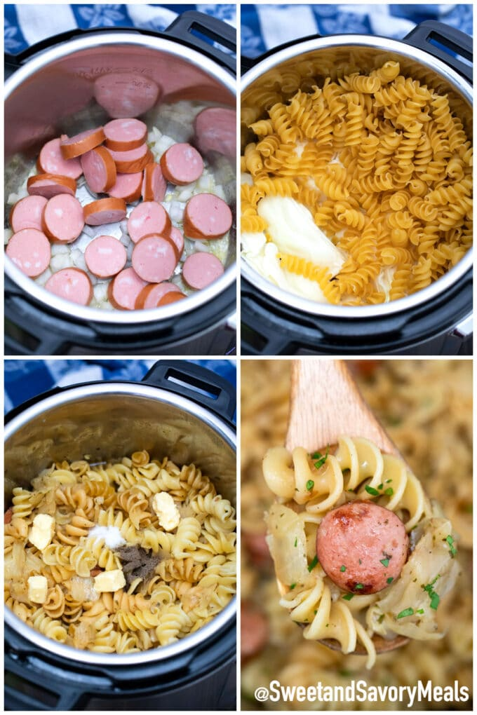 steps how to make instant pot cabbage and noodles