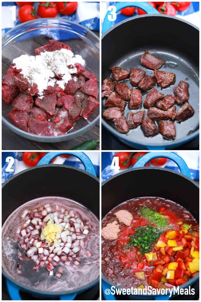 steps how to make Mexican beef stew