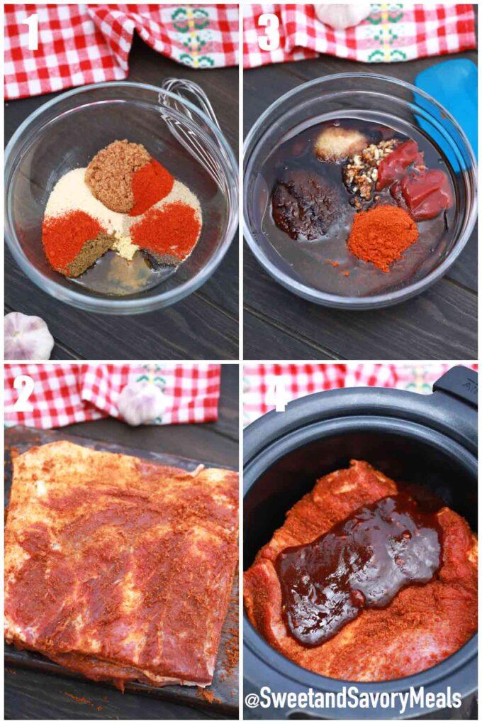 steps how to make slow cooker beef brisket