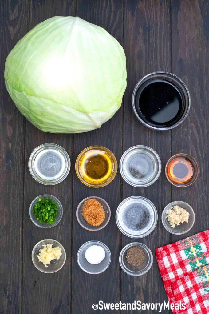 teriyaki cabbage steaks ingredients