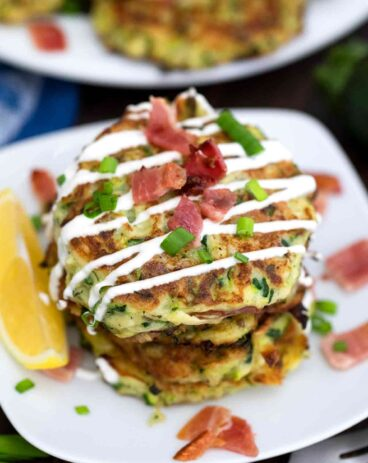 Zucchini Fritters with Bacon