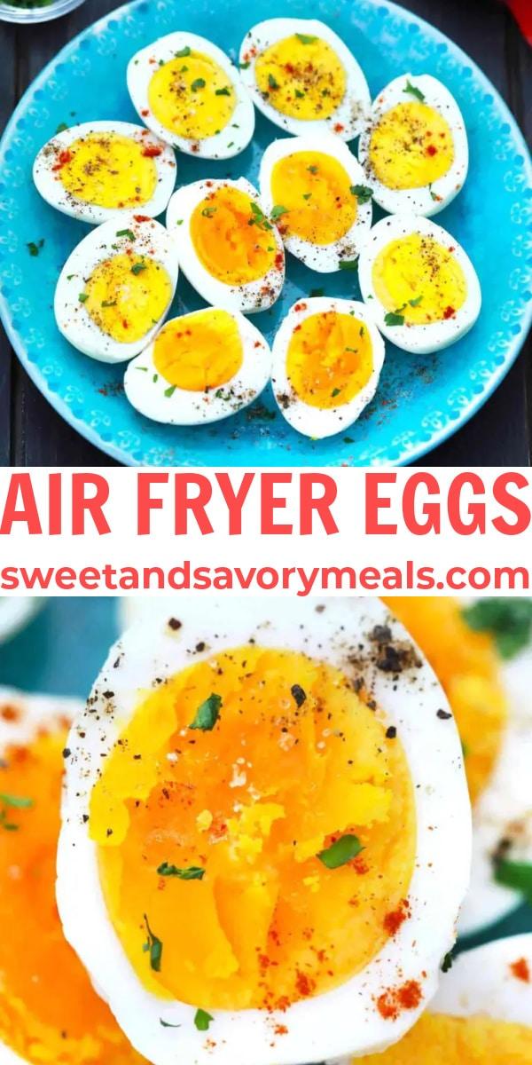 easy air fryer eggs pin