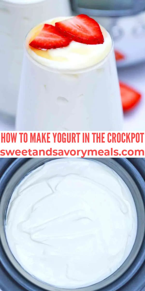 easy crockpot yogurt pin